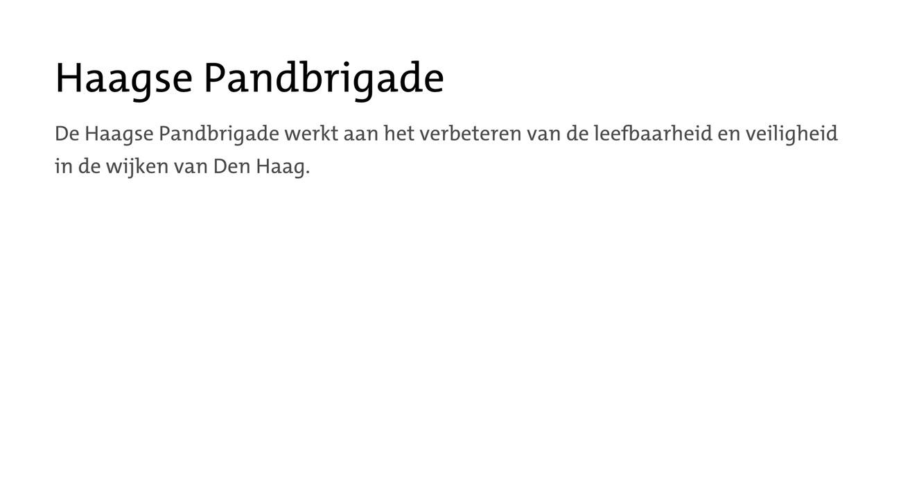 Haagse Pandbrigade
