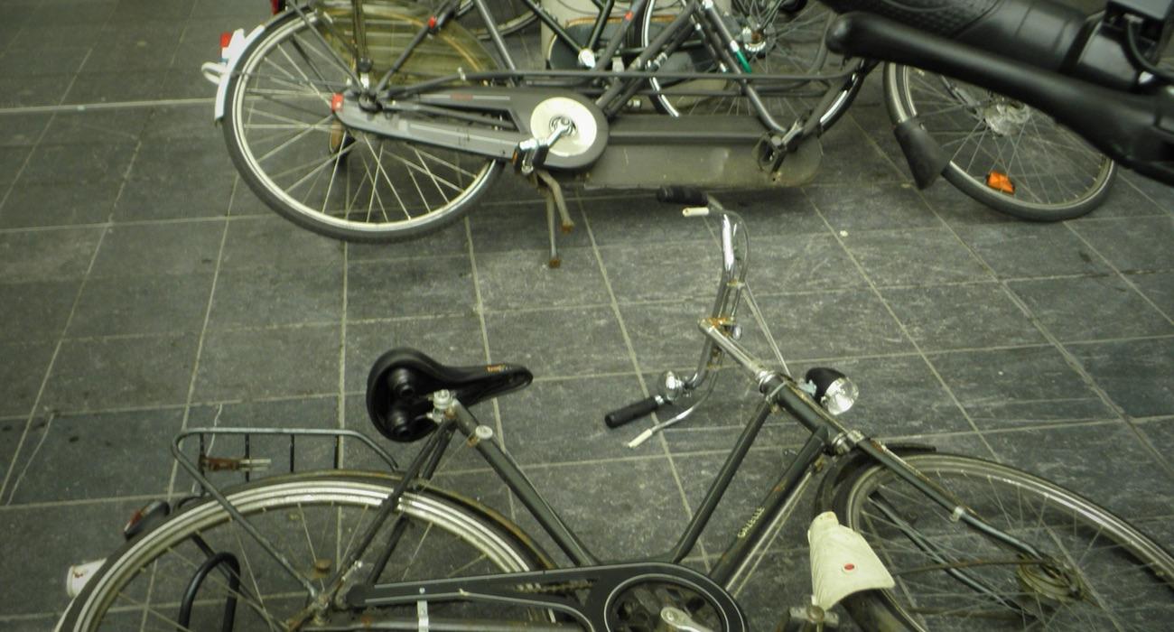 omgevallen fietsen